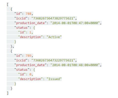 API SIM Retrieval